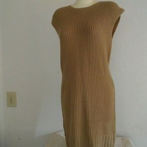 Michael Kors Sleeveless Beige Sweater Dress Sz M